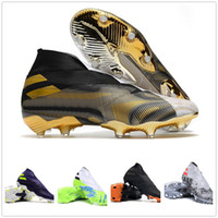 No Laces Laces Nemeziz 19.1 FG Soccer Shoes Training Sneaker 19 Football Best Sports الأحذية المحلية متجر على الانترنت Kingcaps خصم رخيصة 2020