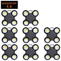 GIGERTOP 8 Paket Su Geçirmez Çin COB LED Blinder Işık 4 Gözler İzleyici Işık X Yapısı Şekli Beyaz Freeship