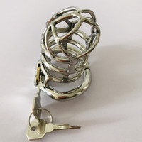 Bluenorth Extreme Confinement Chastity Device Male Stainless Steel Metal Cock Cage Penis Lock Sex Toys with Anti-Spike Ring