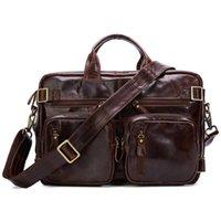 Joyir 2020 Neue Stil Männer Echtes Leder Aktentasche Vintage Männliche Business Handtaschen für Dokumente Retro Große Kapazität Laptoptasche