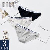 Bannirou Femme Cotton Sous-fonds Soft Girls Solid Couleur Soldes Slip Sexy Sport Sport Lingerie Sous-vêtements Femelle Sous-vêtements