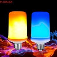 Mavi Yangın E27 LED Alev Etkisi Yangın Ampul Yaratıcı Işıklar Mavi Flickering Atmosfer Cadılar Bayramı Noel Dekoratif Lamba