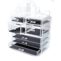 Fashionable Design Cosmetic Storage Rack with 6 Small & 2 Large Drawers Jewelry Box Plastic Storage Cabinet Great Deal