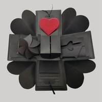 Explosión de regalo de la caja de explosión del amor de la fiesta de sorpresa hecha a mano para el aniversario Scrapbook DIY Álbum de fotos del cumpleaños Regalo de Navidad KKE2942