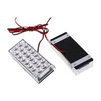 Semáforo 3 modos 22 LED strobe taillight piscando branco