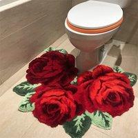 Nouvelle Arrivée Vente chaude Beautiful et Soft Rose Tapis pour salle de bain Tapis de rose pour tabouret pour tabouret LJ201128