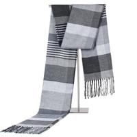 Sciarpe Autunno e inverno versione coreana della sciarpa da uomo griglia imitazione cashmere caldo collo