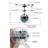Électronique Boule de vol à LED Lumineux Kid Balles de vol d'induction infrarouge Aéronef de télécommande Toys Toys Magic Sensing Helicdtor