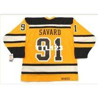 "740S # 91 Marc Savard Boston Bruins 2010 CCM 빈티지 ""겨울 클래식""하키 저지 또는 사용자 정의 모든 이름 또는 번호 Retro Jersey"