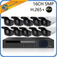 시스템 16ch 5MP PoE NVR CCTV 보안 시스템 4 IR LED 야외 3MP IP 카메라 돔 카메라 3.0MP P2P 비디오 감시 + 4TB1