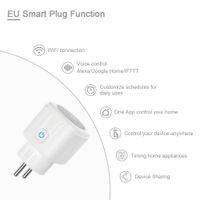 Spina UE Smart Plug WiFi Smart Power Socket Controllo wireless Compatibile Alexa Amazon Google Home Smart Home Gadget
