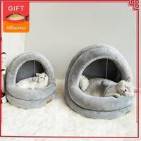 Hohe Qualität Katze Haus Betten Kätzchen Haustier Katzen Sofa Mats Gemütliches Bett Spielzeug Hund Für kleine Kennel Home Cave Sleeping Nest Indoor Products1