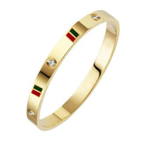 Großhandel Mode Liebe Armband mit Kristall Frauen Luxus Designer Schmuck Edelstahl Armreif 18K Gold Armband Für Männer BRACKIALI