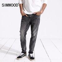 Simwood Yeni Gelmesi 2019 Bahar Kot Erkekler Moda Vintage Slim Fit Casual Marka Denim Pantolon Artı Boyutu Ücretsiz Kargo 1803151