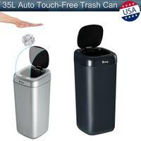 35L التلقائي touchless الذكية الأشعة تحت الحمراء استشعار الحركة القمامة النفايات بن مطبخ القمامة يمكن صناديق القمامة للمطبخ مكتب غرفة livinng