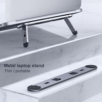 Laptop Tablet Stand Metal Mini Foldable Portable Holder Thin...