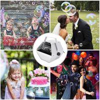 30W AC 110V Novos Materiais Automatic Mini Bubble Macher Machine Auto Blower para casamento / bar / partido / palco Mostrar prata