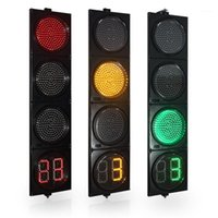 Crossroad1에 대 한 카운트 다운 타이머가있는 12 인치 LED 트래픽 신호 표시등