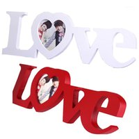 Nai Yue الحب شكل إطار الصورة ديكور المنزل الديكور غرفة نوم مكتب زخرفة الزفاف خشبي كاسامنتو هدية 1