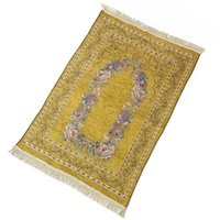 Alfombras Ramadán Corán Musulmán islámico Rug Alfombra alfombra alfombra tassel mantel cubierta yoga 70x110cm para sala de estar, dormitorio lb