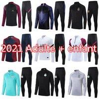 2021 Argélia Futebol Formação Terno Mahrez Moletom 20 21 Maillot de Pé Paris Feghouli di Maria Mbappe Futebol Jogging Jaqueta Tracksuit