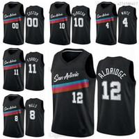 New Season Men San City Antonio Team Demar 10 Derozan Jersey Lamarcus 12 Aldridge 2020/21 Swingman كرة السلة جيرسي أيقونة الطبعة