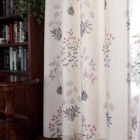 NEW Fresh American vintage curtains cotton linen printed cur...