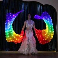 Bühnenabzug 1 Stück Fans Leistung Bauchtanz LED 180 cm Level Hand Requisiten Zubehör Regenbogen Starke Lampen