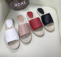 Женская кожа Espadrille Sandal Swild Designer Sandal High Quality Real кожаный шнур платформы двойное оборудование на открытом воздухе слайды с коробкой