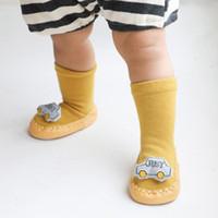 Bebés Meninas do joelho meias altas pequeno carro Verão Outono meias de algodão cor sólida dos doces miúdos criança longa para as crianças # P30