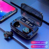 블루투스 이어폰 V5.0 M11 TWS 터치 컨트롤 스테레오 스포츠 무선 헤드폰 소음 감소 전원 은행이있는 이어 버드 헤드셋