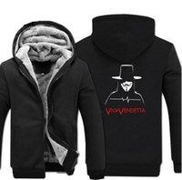 Hampson Lanqe V Vendetta Erkek Ceket Için 2019 Sıcak Kış Sıcak Polar Tişörtü Erkekler Kalınlaşmak Hoodies Marka Artı Boyutu Ceket S-5XL
