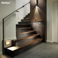 2.5 W kare 86mm led gömme toprakta lamba led step merdiven ışıkları kapalı merdiven aydınlatma footlight köşe duvar lambası