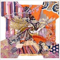 Cachecol de cabelo cetim envoltório 90 lenços de seda lenços de mão-rolados à mão uma noite de verão