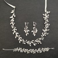 Atacado artesanal pérolas de água doce cristal de cristal nupcial conjunto de jóias de casamento pulseira de bracelete brinco conjunto mulheres jóias