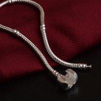 Großhandel Schlange 3mm Armbänder Fabrik Silber 925 Sterling Kette Fit Pandora Charme Perle Bangle Armband Schmuck Geschenk für 65 GB