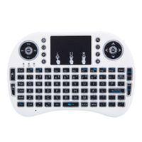 Mini I8 2.4GHz 3-Coll Backlight Teclado Sem Fio Com Touchpad Branco Três Cores LED Backlight US Stock Fast Shipping