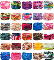 Bandanas Scarves Multifunctional Outdoor Cycling Masks Scarf Magic turban Sunscreen Hair band Riding Cap Multi Styles
