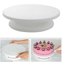 10 zoll Kuchen Drehteller Drehen Anti-Rutsch Rundkuchen Ständer Dekorieren Werkzeuge Kuchen Rotary Tisch Küche DIY Pan Backen Werkzeuge