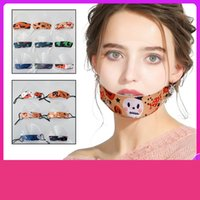 Nuove maschere per il viso trasparente per la maschera di fasioni riutilizzabile lavabile in cotone sord-muto per adulti e maschili individuali impermeabili per bambini