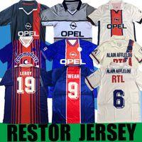 90 92 Retro Beckham Anelka Okocha WEAH Fussball Jersey 06 07 12 13 93 94 95 96 98 99 Ibrahimovic Rai Pauleta Classic Football Shirt