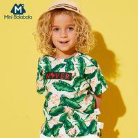 Mini Balabala Niño Niño 100% algodón Camiseta de manga corta tropical Niños Niño Cojón CORTE CORTE CAMISETE CAMISETA ABIERTO Hombro de hombro A Lado T200225