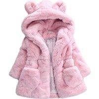 Bibihou inverno bebê bebê meninas faux peles jaqueta de lã concurso de inverno jaqueta quente snowsuit bebê outerwear crianças roupas y200831