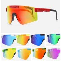 Moda Classic Marca Espelhada Green Lens Pit Viper Sun óculos de sol Polarized Men Goggle Tr90 Frame UV400 Proteção com caso