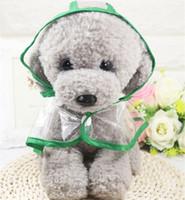 개 투명 한 애완 동물 컬러 비옷 애완 동물 용품 테디 Bichon Poodle 작은 개 레인 코트