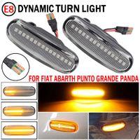 2pcs per Fiat Abarth Punto Grande Panda 199 Doblo Fiorino 3 Idea 350 Linea 323 110 Dynamic LED Lampada del ripetitore della luce