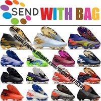 Numeziz 19+ fg كرة القدم أحذية كرة القدم للرجال جودة عالية الكاحل الجلود في الهواء الطلق المدربين الجوارب غير معدل كرة القدم أحذية كرة القدم المرابط