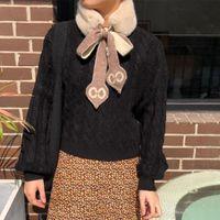 Luksusowy designerski szalik szyi Kawaii dla dziewczyny prezent świąteczny puszyste futro makerchief ciepłe zimowe szale okłady pani 2020 szaliki
