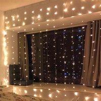 Entrega gratuita 300-LED luz branca quente romântica casamento romântico decoração de decoração de corda de corda luz de alto brilho luzes luzes