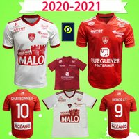 Mailleot De Foot 20 21 Brest Stade Soccer Jersey 2020 2021 الصفحة الرئيسية الأحمر قمصان كرة القدم البيضاء Camisetas دي Fútbol Diallo Lasn Faussurier